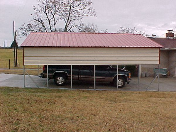 Single carports one car carports 1 car carports for Single garage with carport